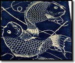 Japanese Katazome Tai Fish Pattern