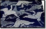 Japanese Katazome Crane Pattern