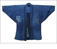 Vintage Indigo Kasuri Boro Jacket