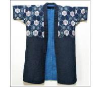 Vintage Indigo Kasuri Sashiko Jacket
