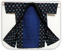 Antique Japanese Indigo Kasuri Farmers Jacket