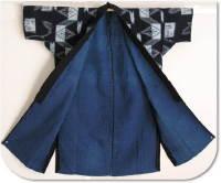 Indigo Kasuri Sashiko Farmers Jacket