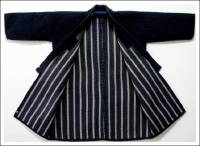 Solid Indigo Kasuri Sashiko Farmers Jacket