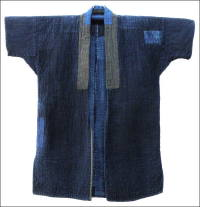 Solid Indigo Sashiko Farmers Jacket