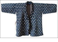Indigo Snowball Kasuri Sashiko Jacket