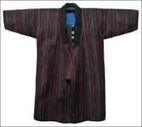 Shima Stripe Sashiko Farmers Jacket