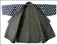 Kasuri Indigo Sashiko Jacket