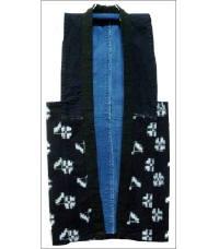Indigo Kasuri Sashiko Japanese Farmers Vest
