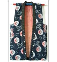 Indigo Kasuri Japanese Farmers Vest