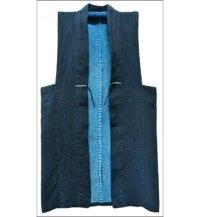 Indigo Sashiko Japanese Farmers Vest