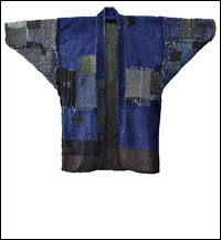 Antique Boro Sashiko Indigo Cotton Jacket Fishermans