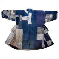 Boro Patchwork Noragi Indigo Farmer Jacket Display or Wear