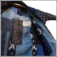 Boro Patched Noragi Indigo Farmer Jacket For Display