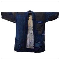 Boro Patchwork Noragi Indigo Farmer Jacket For Display