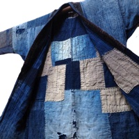 Boro Sashiko Patchwork Noragi Indigo Cotton Farmer Jacket