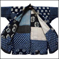 Boro Patchwork Noragi Indigo Cotton Farmer Jacket