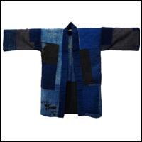 Farmer Boro Patched Noragi Indigo Cotton Jacket