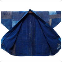 Farmer Boro Patched Noragi Indigo Cotton Jacket