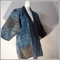 Remarkable Early Boro Patchwork Noragi Indigo Cotton Farmer Jacket