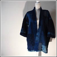 Exceptional Early Boro Patchwork Noragi Indigo Cotton Farmer Jacket