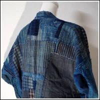Very Nice Early Boro Patchwork Noragi Indigo Cotton Farmer Jacket