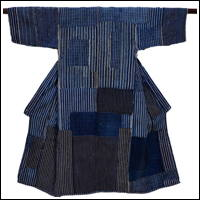 Fantastic Early Boro Patchwork Noragi Indigo Cotton Farmer Kimono Jacket