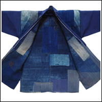 Lovely Early Boro Noragi Indigo Cotton Farmer Jacket