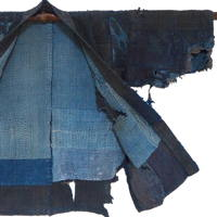 Extreme Sashiko Boro Ragged Beauty Indigo Cotton Farmer Jacket