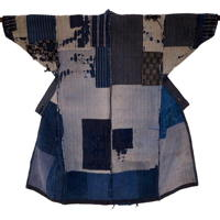 Outstanding Early Boro Patchwork Noragi Indigo Cotton Farmer Kimono