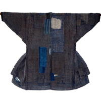 Boro Patchwork Noragi Indigo Cotton Farmer Jacket DIY Project
