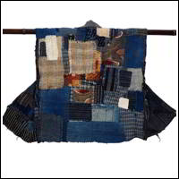 Old Farmer Mottainai Patchwork Boro Noragi Cotton Vest