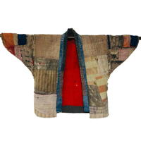Indigo Cotton Boro Patchwork Jacket For Display Only
