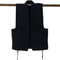 Subtle Look  Superb Quality Cotton Indigo Sashiko Farmers Vest