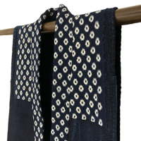 Kasuri Cotton Indigo Copious Sashiko Farmers Vest