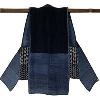 Rare MenJifu shifu Cotton Indigo Kogin Farmers Vest