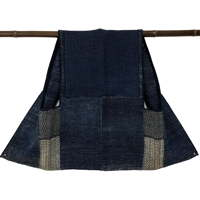 Outstanding MenJifu shifu Cotton Indigo Kogin Farmers Vest