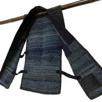 Wonderful Cotton Indigo Sakiori Farmers Vest