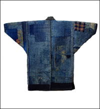 Fishermans Winter Boro Jacket Indigo Cotton  Sashiko c1900