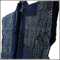 Fishermans Winter Boro Vest Indigo Cotton  Sashiko c1900