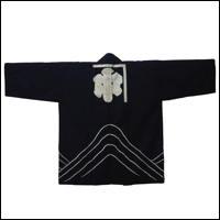 Vintage Indigo Cotton Hanten Worker Jacket