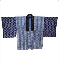 Katazome Indigo Housecoat Jacket