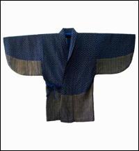 Indigo Hitomezashi Extreme Sashiko Cotton Jacket OneOfKind