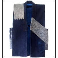 Indigo Hitomezashi Extreme Sashiko Cotton Vest OneOfKind