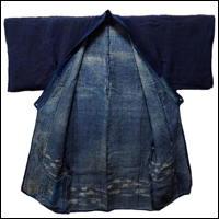 Old Indigo Hemp Handmade Farmer Kimono