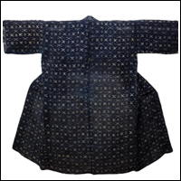 Old Indigo Katazome Hemp Handmade Farmer Jacket