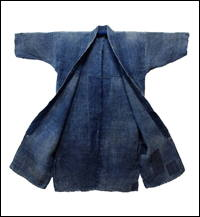 Farmers Ragged Beauty Indigo Hemp Long CoatJacket