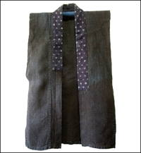 Noragi Solid Dark Indigo Hemp Farmer Vest