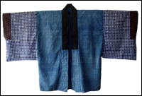 Katazome Indigo Cotton Housecoat Jacket