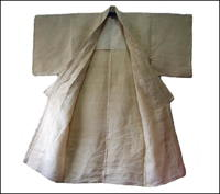 Old 100 Percent Natural Hemp Kimono