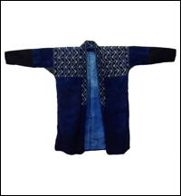 Lady Farmers Vintage Kasuri Indigo Cotton Jacket